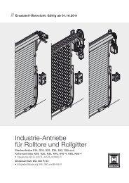 Industrie-Antriebe fuer Rolltore und Rollgitter - Hörmann KG