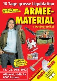 MATERIAL 14.– 23. Dez. 2012 + Outdoorartikel - Dicks Armyshop