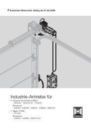 Industrie-Antriebe für - Hörmann