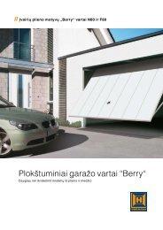 "Plokštuminiai garažo vartai ""Berry"" - Hormann.lt"