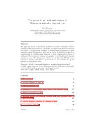 The geometric and arithmetic volume of Shimura varieties of ...