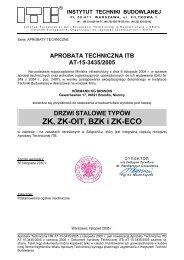 aprobata techniczna itb at-15-3435/2005 - Grupa PSB