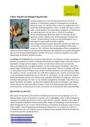 Baumwolle Produktdossier_Juni09 - Lebensart