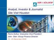 Analyst, Investor & Journalist Site Visit Houston