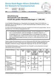 Wasserkraft in der Oberpfalz, Anzahl der großen Wasserkraftanlagen