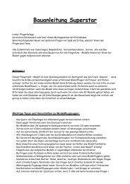 Bauanleitung Superstar - Fliegerland