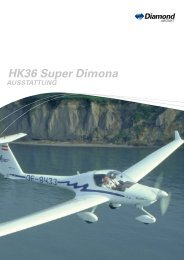 (gegen Aufpreis) HK36 Super Dimona - Diamond Aircraft