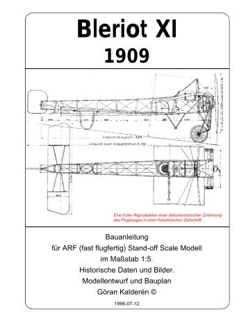 Bleriot XI 1909 - K & W Model Airplanes Inc.