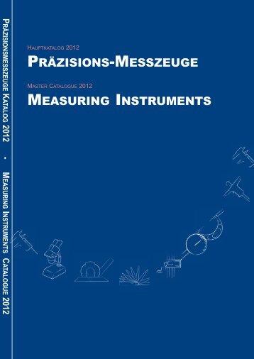 PRÄZISIONS-MESSZEUGE MEASURING INSTRUMENTS - Gimex
