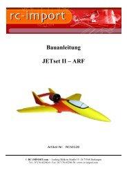 Bauanleitung JETset II – ARF - RC-Luftbilder