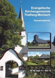 Evangelische Kirchengemeinde Thalfang-Morbach Gemeindebrief
