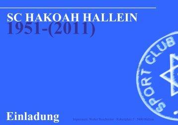 SC HAKOAH HALLEIN Einladung 1951-(2011)