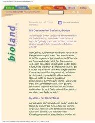 Leseprobe 2004/07: Mit Dammkultur Boden aufbauen