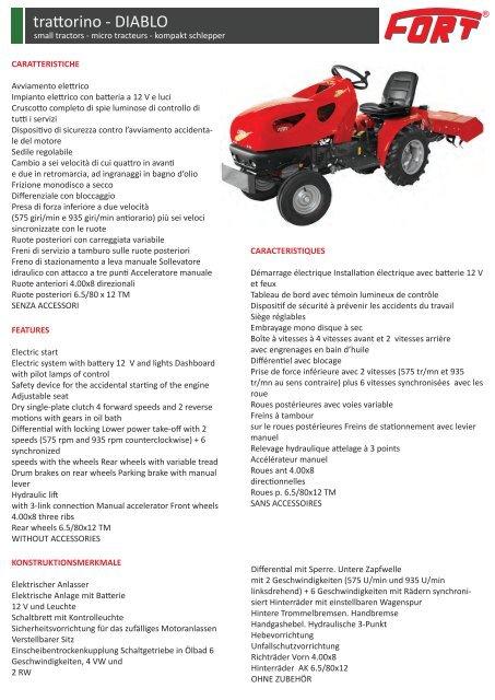 32543d4b9b trattorino - DIABLO - Fort