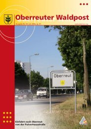Die Oberreuter Waldpost - KA-News