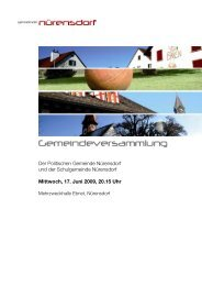 Vergleich Ertrag - Gemeinde Nuerensdorf