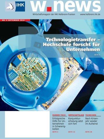 Technologietransfer – Hochschule forscht für ... - w.news