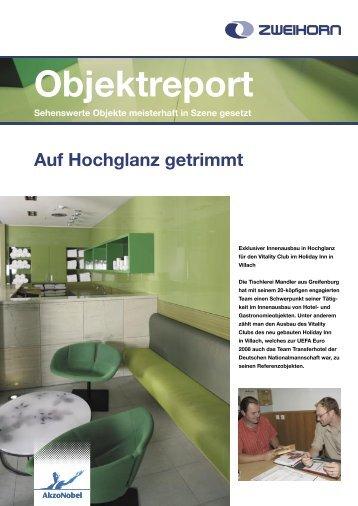 Auf Hochglanz getrimmt Objektreport Sehenswerte ... - Zweihorn