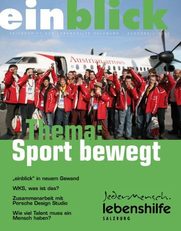 Thema: Sport bewegt - Lebenshilfe Salzburg