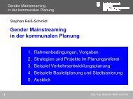 Gender Mainstreaming in der kommunalen Planung - Verband ...