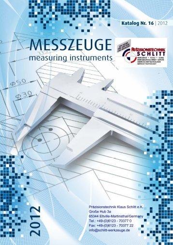 MESSZEUGE - Präzisionstechnik Klaus Schlitt
