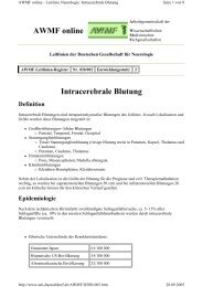 Intracerebrale Blutung AWMF online - Reanitrain