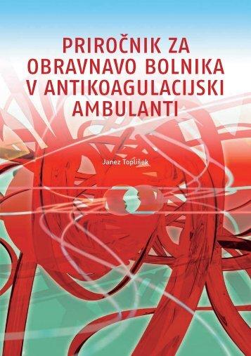 Priročnik za obravnavo bolnika v antikoagulacijski ambulanti