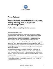 Press Release Konica Minolta Presents First Ink Jet - www3 ...