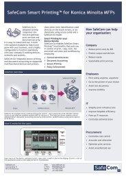 SafeCom Go Canon Administrator's Manual D60707
