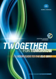 YOUR GUIDE TO THE ELC 2011 - www3.konicaminolt...