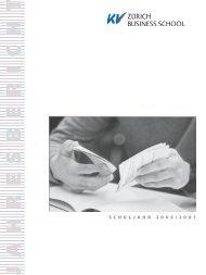 Jahresbericht 2006-07.pdf - KV Zürich Business School