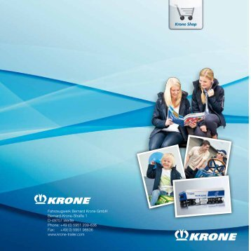 shop katalog pdf - Fahrzeugwerk Bernard KRONE GmbH