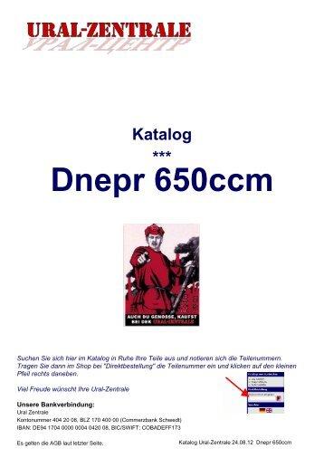Katalog *** Dnepr 650ccm - Ural-Zentrale