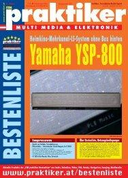 Yamaha YSP-800: Heimkino-Mehrkanal-LS-System ohne ... - Praktiker