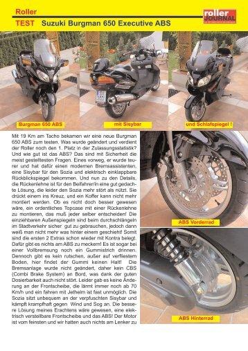 Roller TEST Suzuki Burgman 650 Executive ABS - auf meiner HP