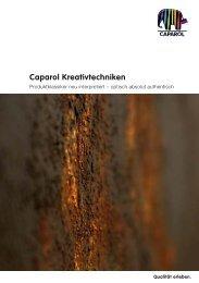 Booklet Caparol Kreativtechniken - Deutsche Amphibolin Werke