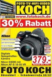Auf Ehem. UVP - Hifi & Foto Koch GmbH