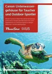 Canon Unterwasser- gehäuse für Taucher und Outdoor-Sportler
