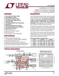 LTC5542 - 1.6GHz to 2.7GHz High Dynamic Range Downconverting ...