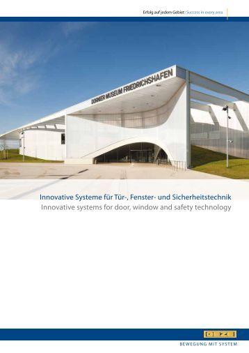 Innovative Systeme für Tür-, Fenster- und Sicherheitstechnik ...