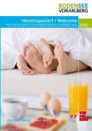 Hereinspaziert I Welcome - Bodensee-Vorarlberg Tourismus