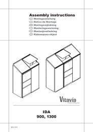 Ida 900, 1300 assembly instructions - OPJ Handel A/S