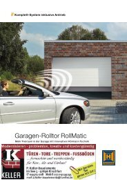 Katalog Garagenrolltore - Keller Bauelemente