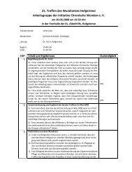 Protokoll vom 30.06..2008 - Initiative Chronische Wunden eV