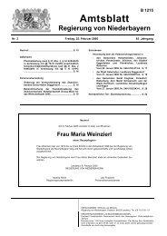 Frau Maria Weinzierl - Die Regierung von Niederbayern