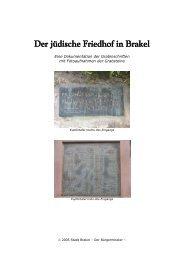 Der jüdische Friedhof in Brakel - Stadt Brakel