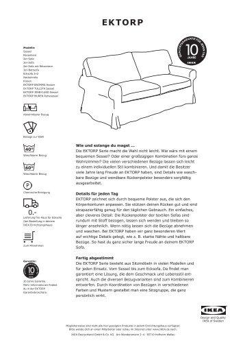 EKTORP – Alle Teile, Größen und Preise - IKEA.com