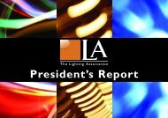 President's Message - The Lighting Association