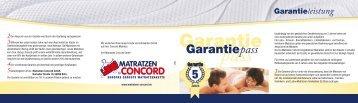 pass Garantiepass - Matratzen Concord GmbH