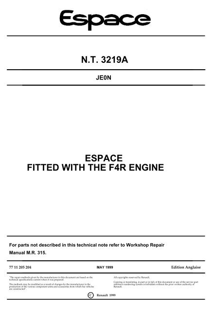 N T  3219A ESPACE FITTED WITH THE F4R ENGINE - MatraSport dk